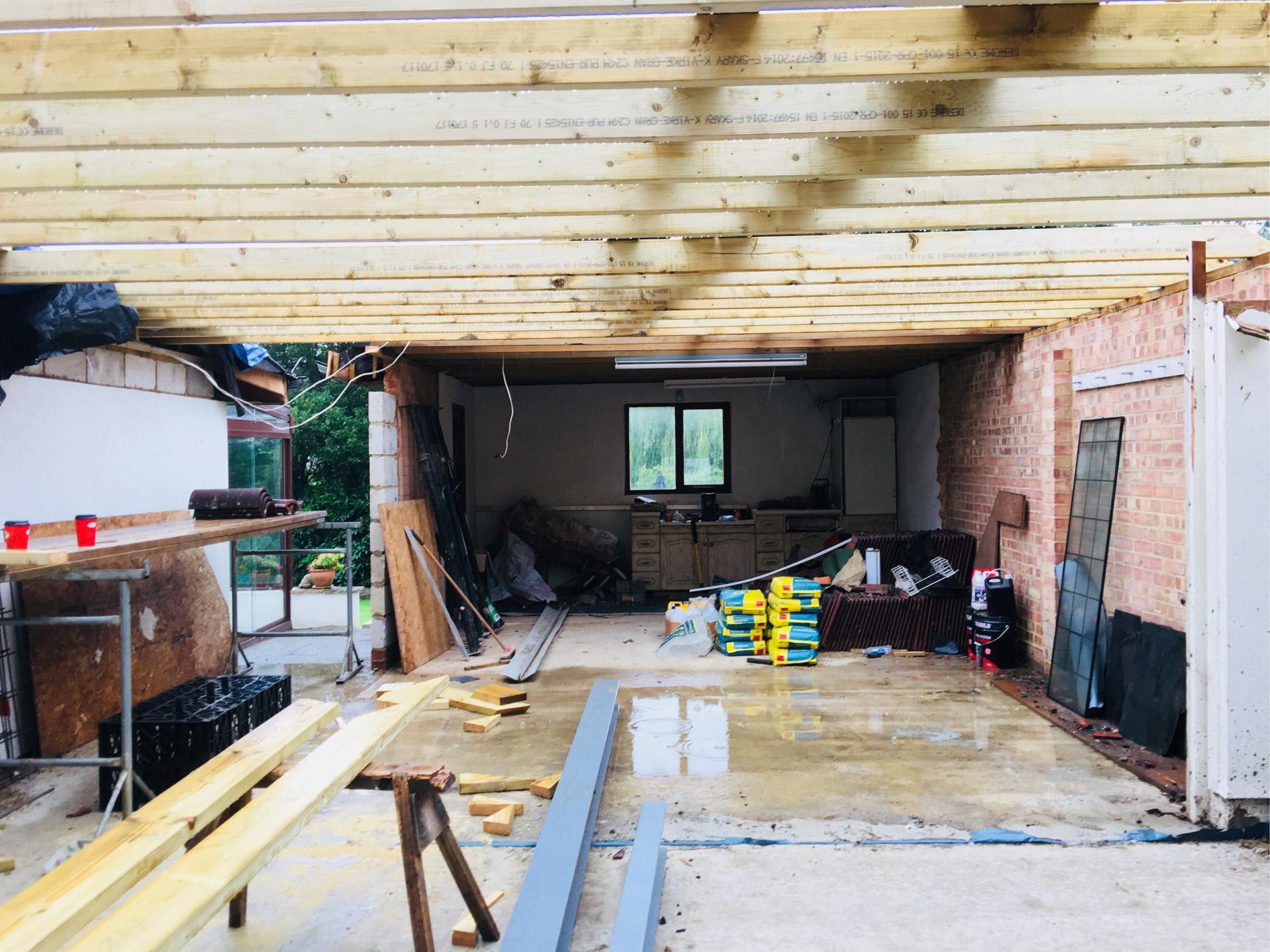 Garage Extension In Wentworth Hayward Construction