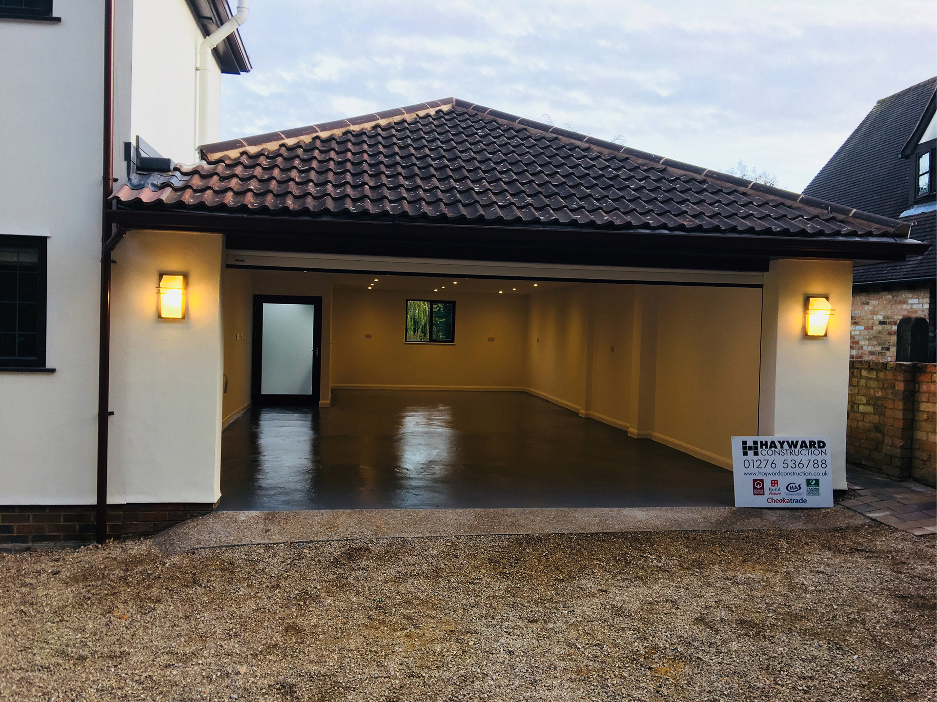 Garage Extension In Wentworth Hayward Construction