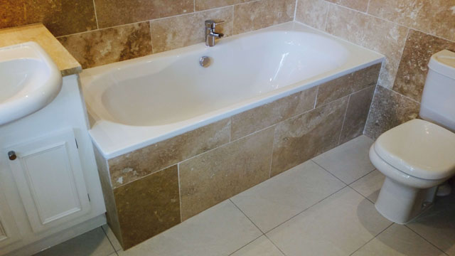 Hayward Construction Bathroom Windlesham Travertine