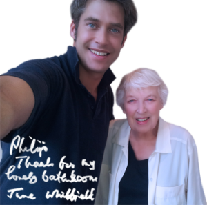 Philip with June Whitfield