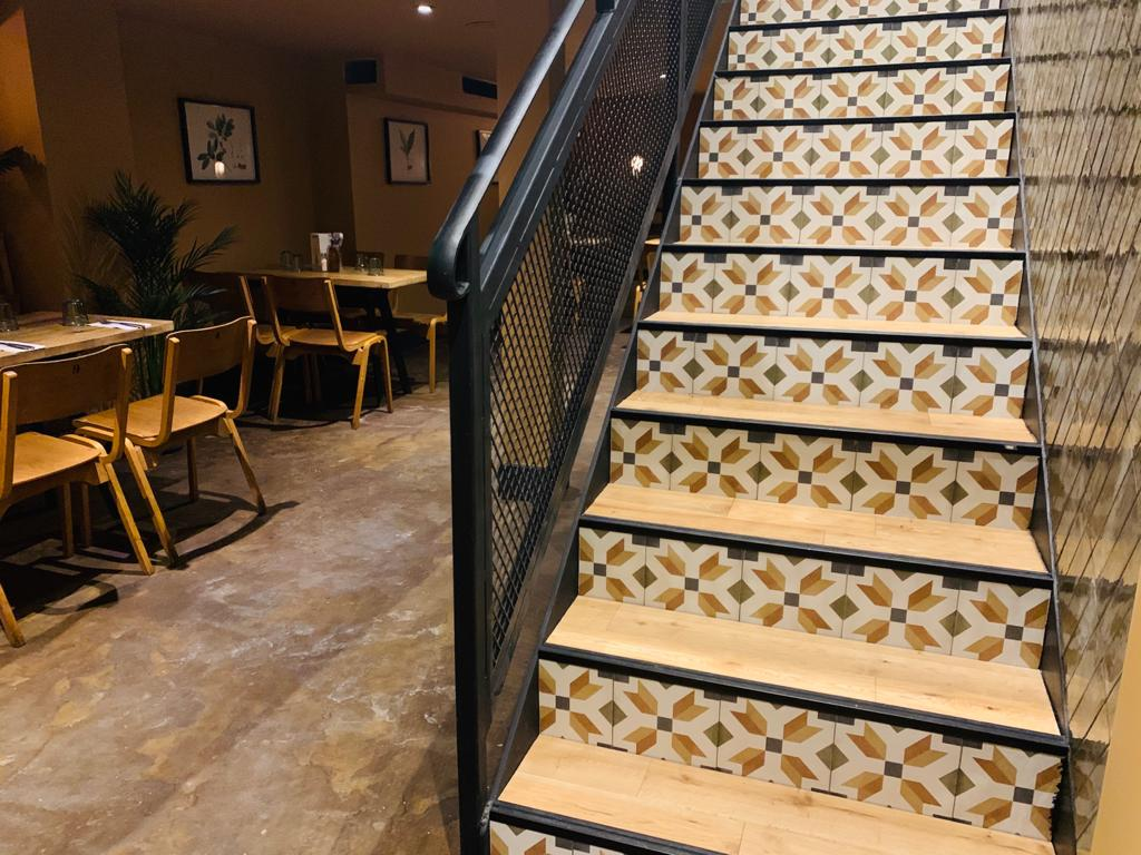 Restaurant Shop Fit Out Tiling Metal Stairs